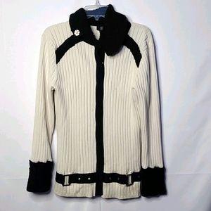 NILS Sportswear snap button heavy sweater cardigan